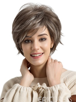 Romantic Short Hair Synthetic Wigs For Women 10 inches
