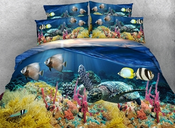 Vivilinen Sunset Undersea World Print 3D Bedding Sets