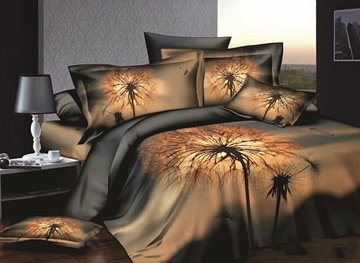 Vivilinen Cotton Night city scene duvet cover 4 piece Bedding sets