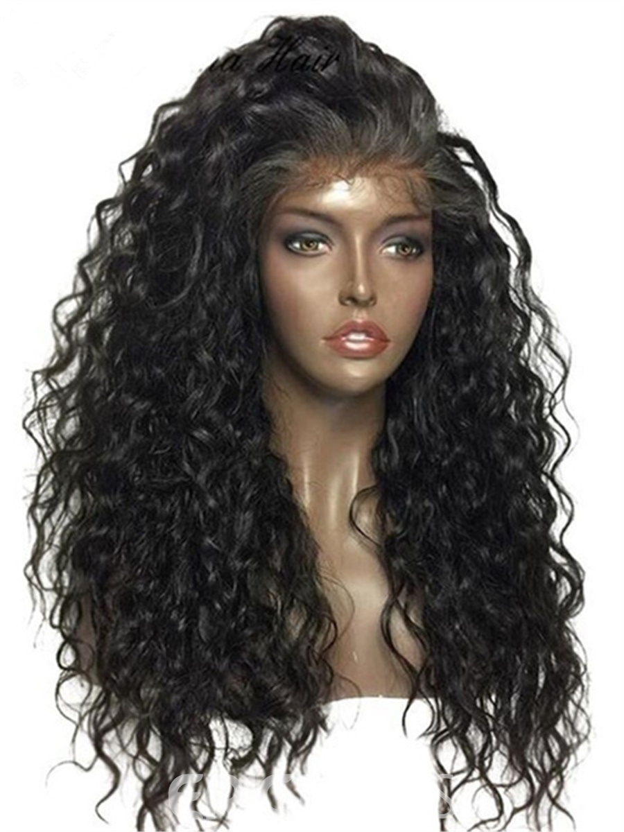 Ericdress Sexy Curly Long Synthetic Hair Lace Front Cap African American Wigs 24 Inches