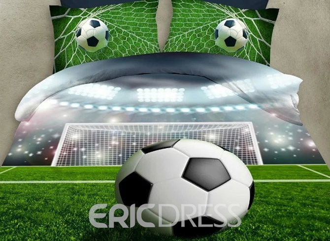 Vivilinen Glitter Football Ground Print 3D Bedding Sets