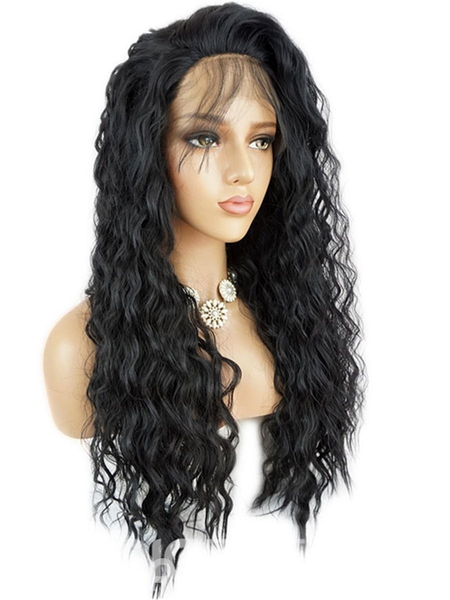 Ericdress Long Sexy Loose Wave African American Synthetic Hair Lace Front Wigs 24 Inches