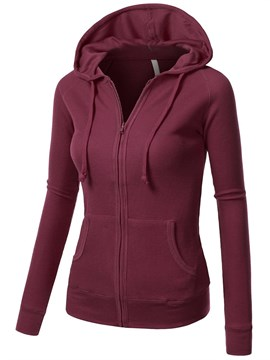 Ericdress Zip-Up Long Sleeves Cool Hoodie