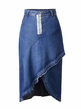 Ericdress Asymmetrical Denim Women's Skirt