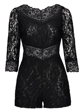 Ericdress Skinny Lace Rompers