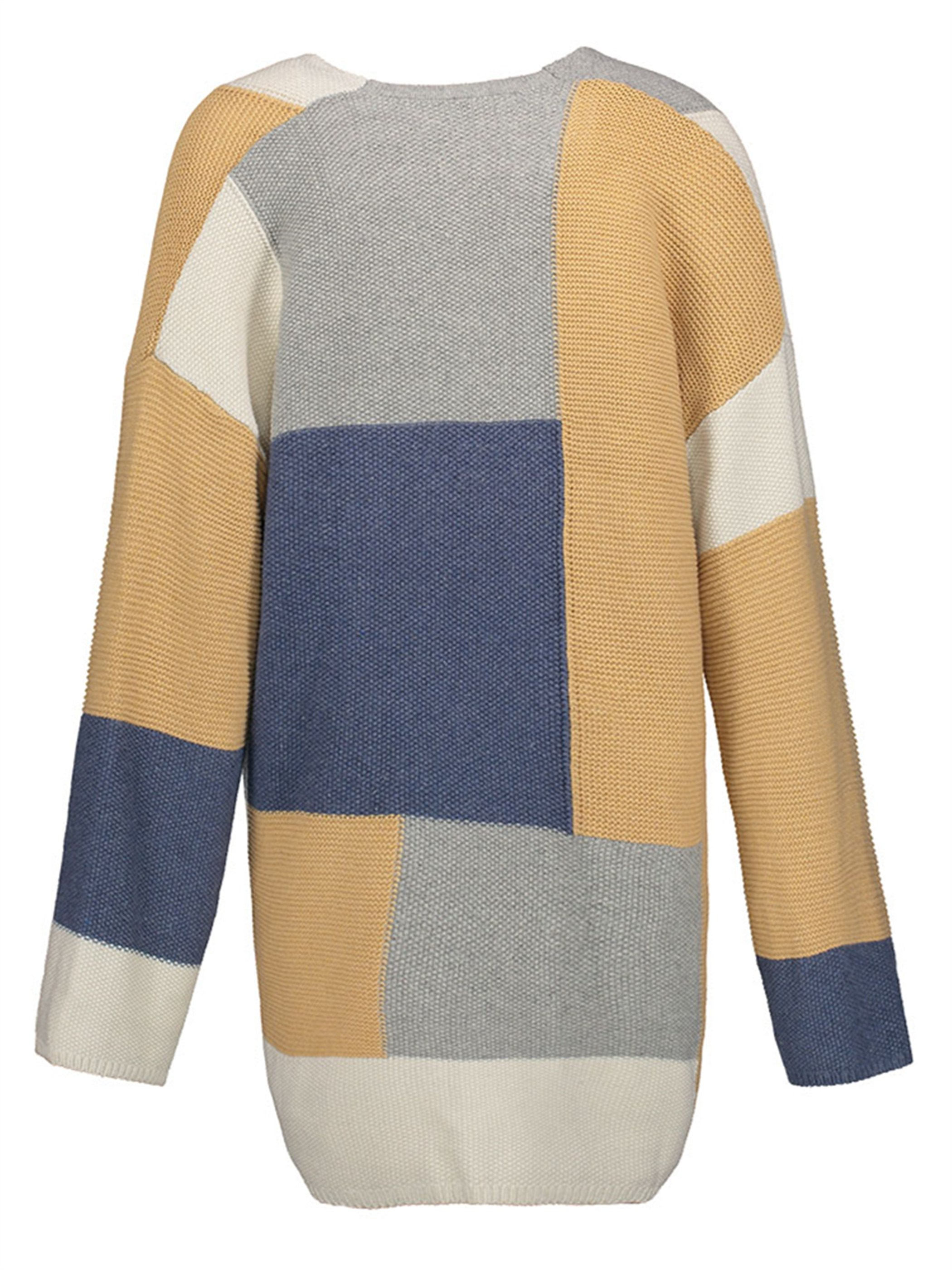 Ericdress Color Block Mid-Length Cardigan Knitwear