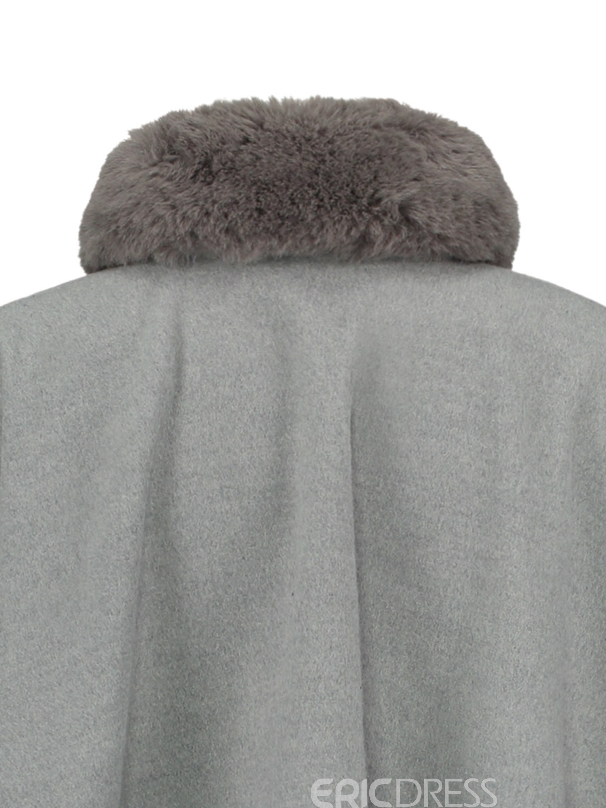 Ericdress Plain One Button Fur Cape