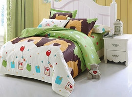 Vivilinen Super Lovely Lions 4-Piece Cotton Kids Duvet Cover Sets
