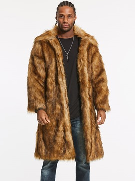 Ericdress Faux Fur Lapel Long Vogue Men's Winter Coat