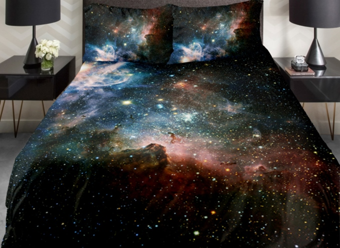 Vivilinen Magical Galaxy and Shining Star Print 4-Piece Duvet Cover Sets