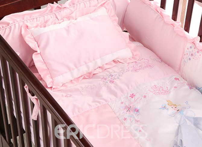 Vivilinen Cartoon Pattern Cotton Princess 6-Piece Baby Crib Duvet Covers/Bedding Sets