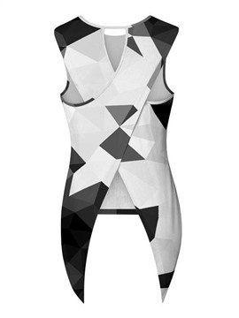 Ericdress Women's I-Shaped Geometric Cami Vest
