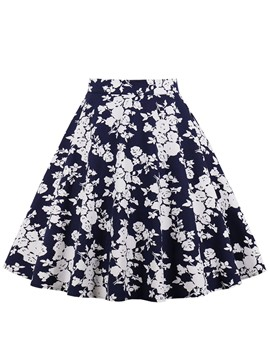 Ericdress A-Line Floral Print Women's Mini Skirt