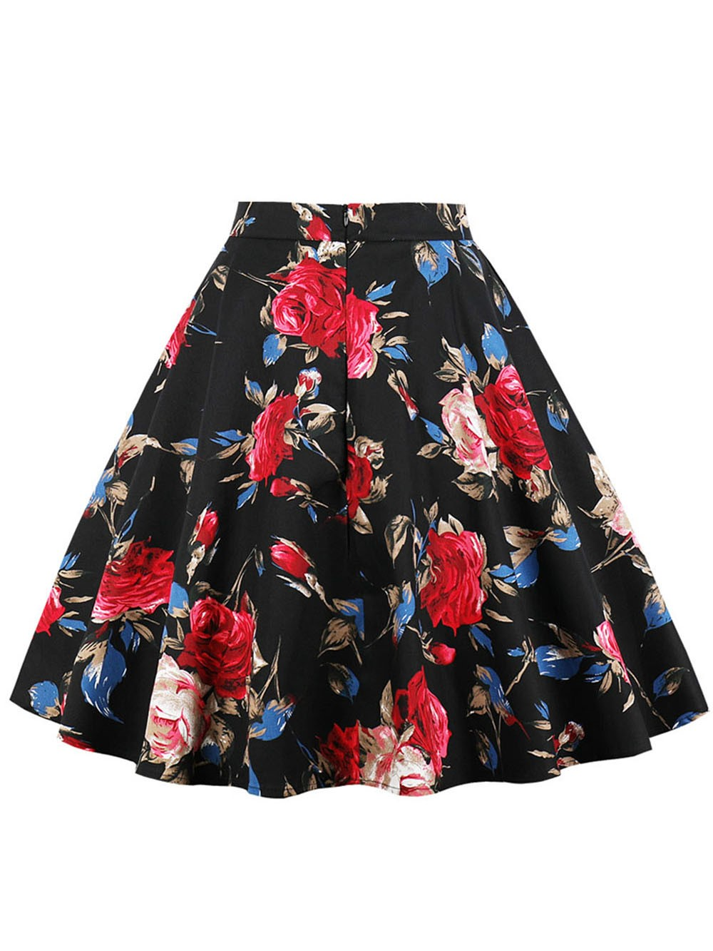 Ericdress A-Line Print Pleated Women's Skirt