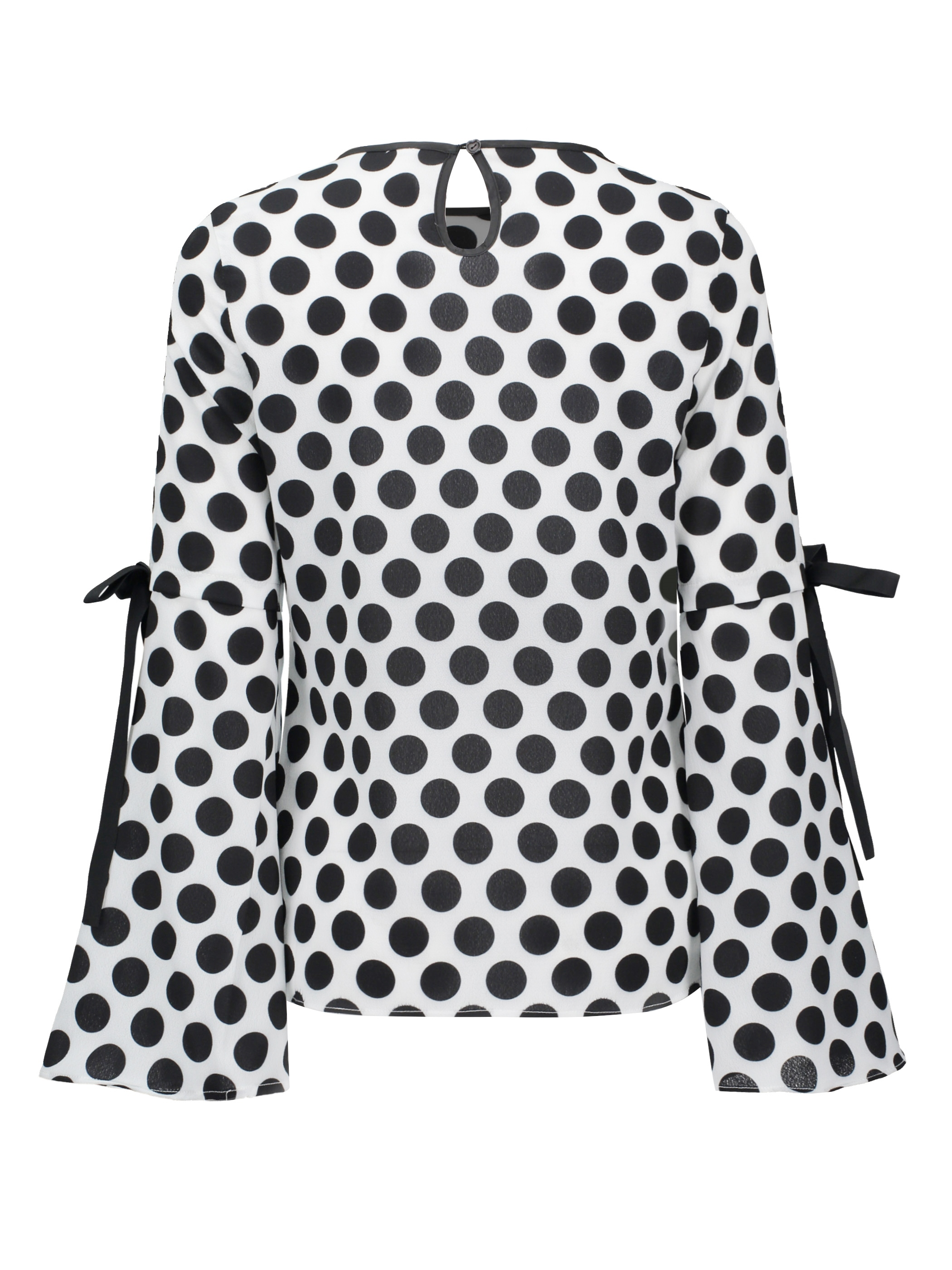 Ericdress Slim Polka Dots Flare Sleeve Womens Top