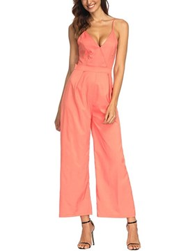 Ericdress Backless Sexy Wide Legs Women's Jumpsuits
