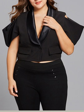 Ericdress Plus-Size One Button Shawl Collar Blazer