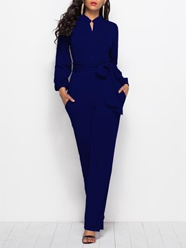Jumpsuit de mujer ericdress plain lace up