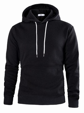 Ericdress Plain Pullover Hooded Mens Casual Slim Hoodies