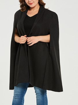 Ericdress Plus-Size One Button Caped Jacket