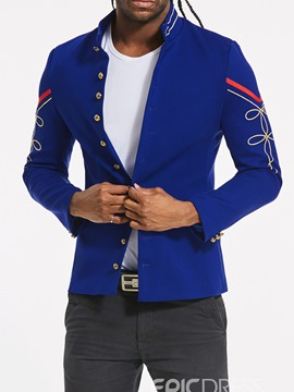 Ericdress Stand Collar Single Breasted Slim Fit Men's Jacket Blazer