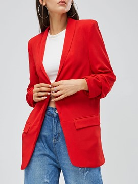 Ericdress Mid-Length Notched Lapel Office Lady Blazer