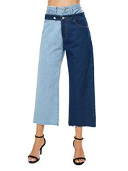 Ericdress Color Block Patchwork Loose Womens Jeans 13453760