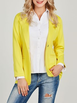 Ericdress Button Plain Standard Lapel Blazer