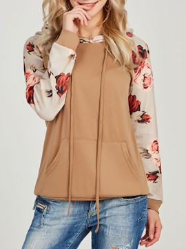 Ericdress Pocket Print Thick Long Sleeves Cool Hoodie