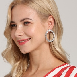 Ericdrss Annulus Daimante Fashion Earrings