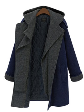 Ericdress Straight Single-Breasted Winter Mid-Length Overcoat