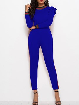 Ericdress Skinny Ankle Length Ruffles Women's Jumpsuit