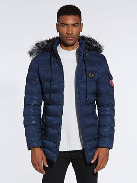Ericdress Camoufalge Mid-Length Hooded Mens Winter Quilted Coats