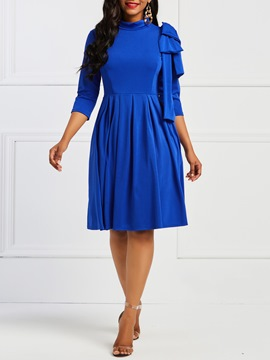 Ericdress 3/4 Length Sleeves Knee-Length A-Line Women's Dress