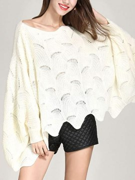 Ericdress Thin Hollow Long Sleeve Batwing Sweater