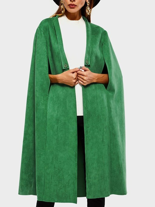 Ericdress Suede Split Fashion Long Cape