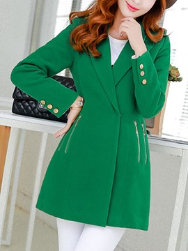 Ericdress Straight Regular Lapel Winter Overcoat