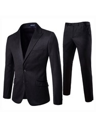Ericdress Plain Single-Breasted Blazer Mens 2 Pieces Dress Suit фото