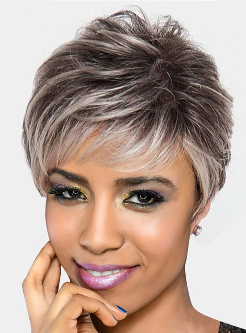 Ericdress Women's Short Pixie Cut Straight Synthetic Hair Capless Wigs