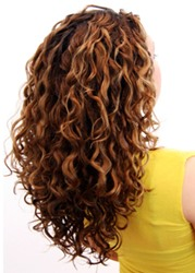 Ericdress Kinky Curly 7 pcs Clip In Human Hair Extensions фото