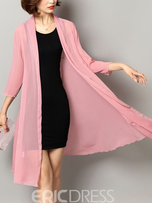 Ericdress Mid-Length Loose Summer Trench Coat