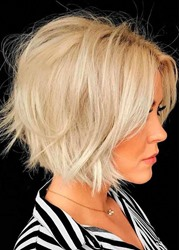 Ericdress Short Bob Layered Hairstyles Womens 613 Blonde Straight Synthetic Hair Capless Wigs 10 Inch