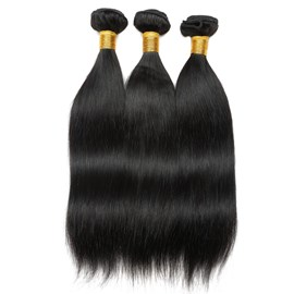 Ericdress 100% Human Virgin Hair Weft Straight Human Hair Bundles Hair Extensions 300g