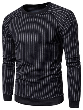 Ericdress Pullover Patchwork Stripe Round Neck Halloween Men's Hoodies