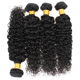 Ericdress Brazilian Kinky Curly Hair Bundles Hair Weft Weave Virgin Human Hair Extensions 300g