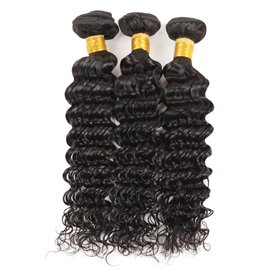 Ericdress Brazilian Deep Wave Hair Bundles Human Hair Virgin Deep Curly Hair Extensions 300g