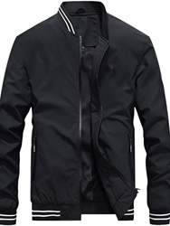 Ericdress Thick Color Block Stand Collar European Mens Jacket