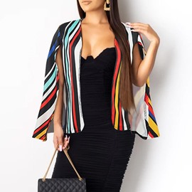 Ericdress Stripe Polyester Fall Cape