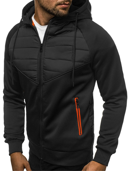 Ericdress Zipper Cardigan Thick Men's Hoodies