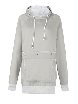 Ericdress Pocket Plain Regular Mid-Length Fall Women's Hoodie